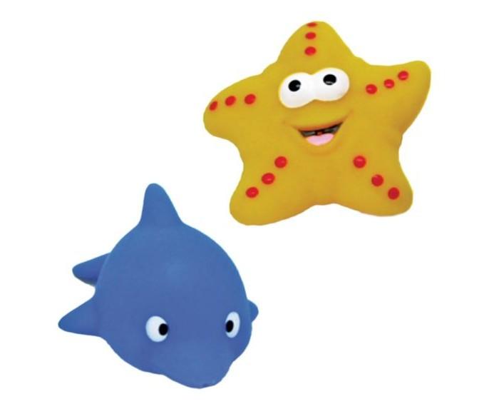 Игрушки для ванны Жирафики Набор для купания Дельфин и морская звезда игрушки для ванны tolo toys набор ведерок квадратные