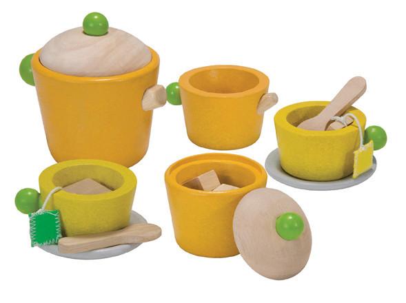 Деревянные игрушки Plan Toys Набор для чаепития игрушки для ванной plan toys скоростная лодка