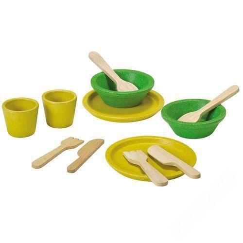 Деревянные игрушки Plan Toys Набор деревянной посуды конструкторы plan toys игра кактус
