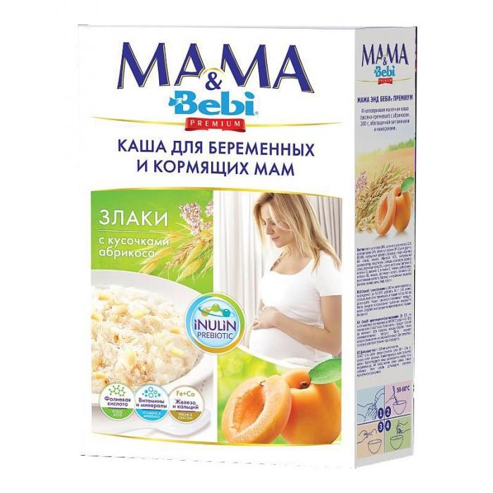 Каши Bebi Молочная Каша Mama&Bebi Premium Злаки с кусочками абрикоса 18х200 г каши bebi молочная овсяная каша premium с 5 мес 250 г