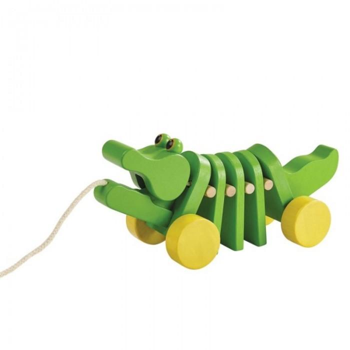 Каталки-игрушки Plan Toys Каталка Танцующий крокодил конструкторы plan toys игра кактус