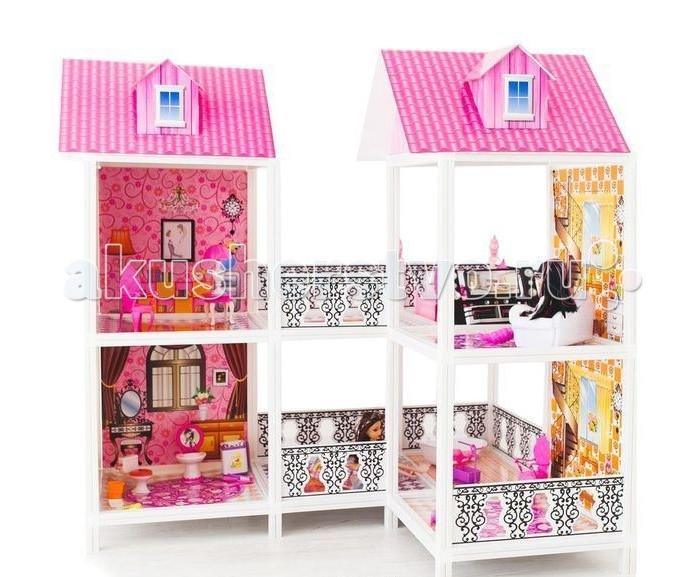 Paremo Кукольный домик 2-этажный 4 комнаты PPCD116-03Кукольный домик 2-этажный 4 комнаты PPCD116-03Paremo Кукольный домик 2-этажный 4 комнаты PPCD116-03 с мебелью и 2 куклы в комплекте.  Домик предназначен для детей старше 3-летнего возраста Игрушка состоит из пластика и картонна Разработан специально для кукол высотой до 30 см (прекрасно подходит для Barbie, Winx, Moxie, Bratz, Sonya Rose и т.д.)  В комплекте: различные предметы мебели, 2 куклы  Особенность: достаточно насыщенное цветовое решение и лаконичная конструкция дома придает ему визуальную респектабельность. Это надежное и комфортное жилище для дружной и большой кукольной семьи. ВНИМАНИЕ! Для устойчивой фиксации картонные вставки требуют проклейки с каркасами домика.  Вес: 7 кг Материалы: Пластмасса, картон Размеры (габариты): 103 х 77 х 100 см Размеры упаковки: 83 х 14 х 36 см<br>