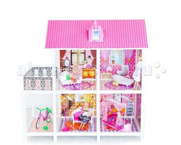 Paremo Кукольный домик 2-этажный 4 комнаты PPCD116-02Кукольный домик 2-этажный 4 комнаты PPCD116-02Paremo Кукольный домик 2-этажный 4 комнаты PPCD116-02 с мебелью, велосипедом и 3 куклами в комплекте.  Домик предназначен для детей старше 3-летнего возраста Игрушка состоит из пластика и картона Большой игрушечный дом для кукол частично открытый (задняя стенка глухая, лицевая часть полностью открыта) Разработан специально для кукол высотой до 30 см (прекрасно подходит для Barbie, Winx, Moxie, Bratz, Sonya Rose и т.д.) В комплекте: различные предметы мебели, 3 куклы  Особенность: достаточно насыщенное цветовое решение и лаконичная конструкция дома придает ему визуальную респектабельность. Это надежное и комфортное жилище для дружной и большой кукольной семьи. 2 этажа, балкон, веранда. ВНИМАНИЕ! Для устойчивой фиксации картонные вставки требуют проклейки с каркасами домика.  Вес: 7 кг Материалы: Пластмасса, картон Размеры (габариты): 105 х 42 х 100 см Размеры упаковки: 85 х 13 х 36 см<br>