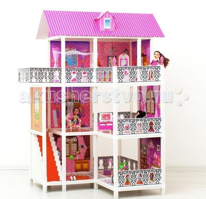 Paremo Кукольный домик 3-этажный 6 комнат PPCD116-07Кукольный домик 3-этажный 6 комнат PPCD116-07Paremo Кукольный домик 3-этажный 6 комнат PPCD116-07 с мебелью, велосипедом и 3 куклами в комплекте.  Домик предназначен для детей старше 3-летнего возраста Игрушка состоит из пластика и картона Большой игрушечный дом для кукол частично открытый (задняя стенка глухая, лицевая часть полностью открыта) Разработан специально для кукол высотой до 30 см (прекрасно подходит для Barbie, Winx, Moxie, Bratz, Sonya Rose и т.д.) В комплекте: различные предметы мебели, 3 куклы  Особенность: достаточно насыщенное цветовое решение и лаконичная конструкция дома придает ему визуальную респектабельность. Это надежное и комфортное жилище для дружной и большой кукольной семьи. 2 этажа, балкон, веранда. ВНИМАНИЕ! Для устойчивой фиксации картонные вставки требуют проклейки с каркасами домика.  Вес: 9 кг Материалы: Пластмасса, картон Размеры (габариты): 104 х 76 х 137 см Размеры упаковки: 95 х 15 х 36 см<br>
