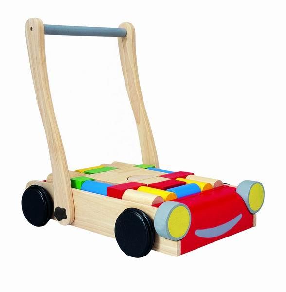 Деревянные игрушки Plan Toys Тележка с блоками конструкторы plan toys игра кактус