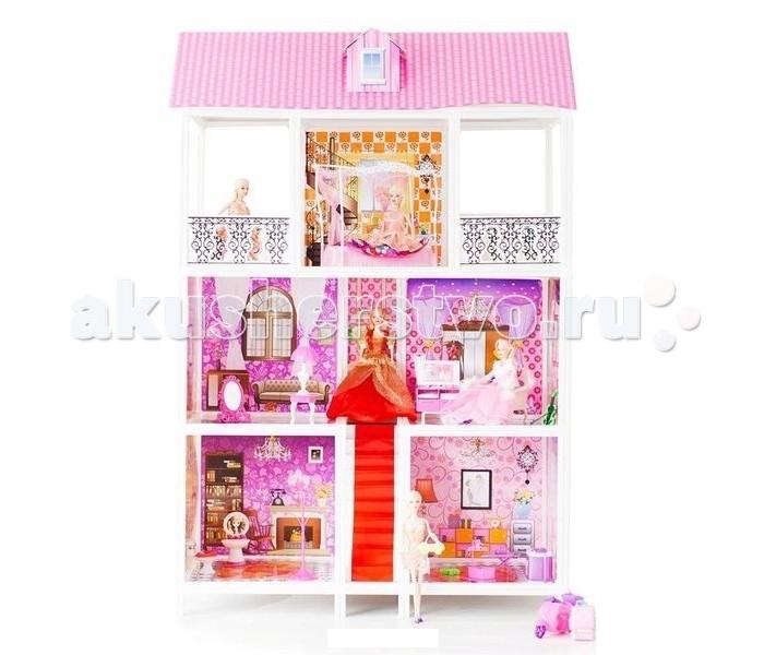 Paremo Кукольный домик 3-этажный 5 комнат PPCD116-05Кукольный домик 3-этажный 5 комнат PPCD116-05Paremo Кукольный домик 3-этажный 5 комнат PPCD116-05 с мебелью, велосипедом и 3 куклами в комплекте.  Домик предназначен для детей старше 3-летнего возраста Игрушка состоит из пластика и картона Большой игрушечный дом для кукол частично открытый (задняя стенка глухая, лицевая часть полностью открыта) Разработан специально для кукол высотой до 30 см (прекрасно подходит для Barbie, Winx, Moxie, Bratz, Sonya Rose и т.д.) В комплекте: различные предметы мебели, 3 куклы  Особенность:достаточно насыщенное цветовое решение и лаконичная конструкция дома придает ему визуальную респектабельность. Это надежное и комфортное жилище для дружной и большой кукольной семьи. 3 этажа, лестница. ВНИМАНИЕ! Для устойчивой фиксации картонные вставки требуют проклейки с каркасами домика.  Вес: 9 кг Материалы: Пластмасса, картон Размеры (габариты): 94 х 42 х 136 см Размеры упаковки: 96 х 13 х 36 см<br>