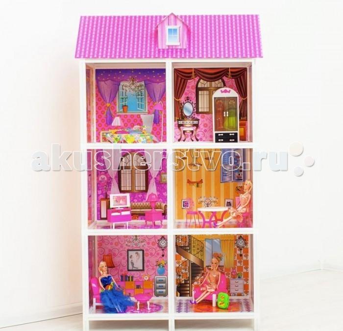 Paremo Кукольный домик 3-этажный 6 комнат PPCD116-06Кукольный домик 3-этажный 6 комнат PPCD116-06Paremo Кукольный домик 3-этажный 6 комнат PPCD116-06 с мебелью, велосипедом и 3 куклами в комплекте.  Домик предназначен для детей старше 3-летнего возраста Игрушка состоит из пластика и картона Большой игрушечный дом для кукол частично открытый (задняя стенка глухая, лицевая часть полностью открыта) Разработан специально для кукол высотой до 30 см (прекрасно подходит для Barbie, Winx, Moxie, Bratz, Sonya Rose и т.д.) В комплекте: различные предметы мебели, 3 куклы  Особенность: достаточно насыщенное цветовое решение и лаконичная конструкция дома придает ему визуальную респектабельность. Это надежное и комфортное жилище для дружной и большой кукольной семьи. ВНИМАНИЕ! Для устойчивой фиксации картонные вставки требуют проклейки с каркасами домика.  Вес: 8 кг Материалы: Пластмасса, картон Размеры (габариты): 84 х 42 х 136 см Размеры упаковки: 85 х 13 х 36 см<br>