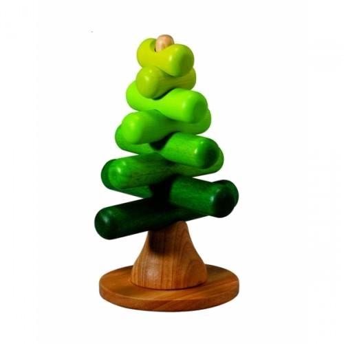 Деревянная игрушка Plan Toys Пирамидка-ДеревоПирамидка-ДеревоДизайн Пирамидки-дерева основан на концепции природы. Каждую деревянную деталь, выполненную в вариациях зеленого цвета, можно уложить так, чтобы сформировать различные виды деревьев.  Игра поможет детям узнать об оттенках цвета и размерах. Родители могут помочь детям распознавать различные оттенки и размеры и мотивировать их соединять детали в соответствии с размером.  Эти занятия стимулируют развитие зрения, умственных способностей и координацию глаза-рука. Конструирование Дерева может быть связано с выращиванием реального дерева на природе и поможет осознать важность окружающей среды. Собрав пирамидку-Дерево можно вместе выбрать и другие семейные мероприятия, что будет способствовать укреплению хороших отношений в семье. Желательно, чтобы родители советовали и поощряли детей, если у них пока не всё получается.  Игрушка Plan Toys выполнена из каучукового дерева с использованием нетоксичных красок и специально изготовлена с закругленными краями, чтобы избежать вероятности травмирования.  Размеры игрушки: 14.0 x 14.0 x 21.5 см. Размеры упаковки: 12.5 x 11.3 x 23.0 см. Рекомендована для детей от 2 лет.<br>