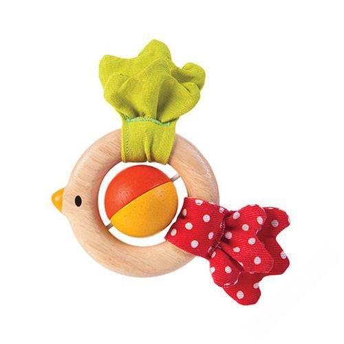 Деревянные игрушки Plan Toys погремушка Птичка погремушки plan toys погремушка зайчик