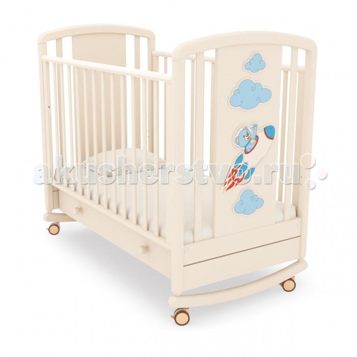 Купить Детская кроватка Angela Bella Жаклин Мишка на ракете качалка в интернет магазине. Цены, фото, описания, характеристики, отзывы, обзоры