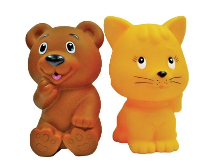 Игрушки для ванны Жирафики Набор для купания Мишка и котёнок игрушки для ванны tolo toys набор ведерок квадратные