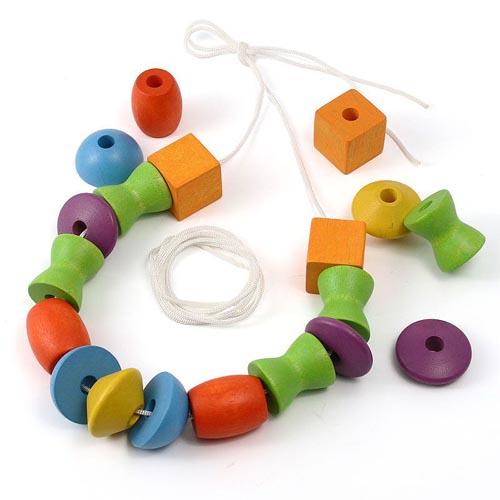 Деревянные игрушки Plan Toys Игра Собери бусы игрушки для ванны tolo toys набор ведерок квадратные