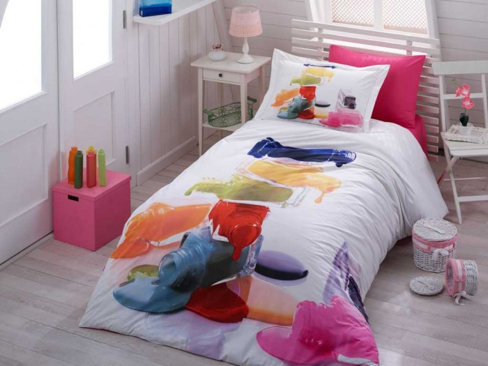 Постельные принадлежности , Постельное белье 1.5-спальное Hobby Home Collection 1.5-спальное 3D Rainbow 160x240 см арт: 299092 -  Постельное белье 1.5-спальное