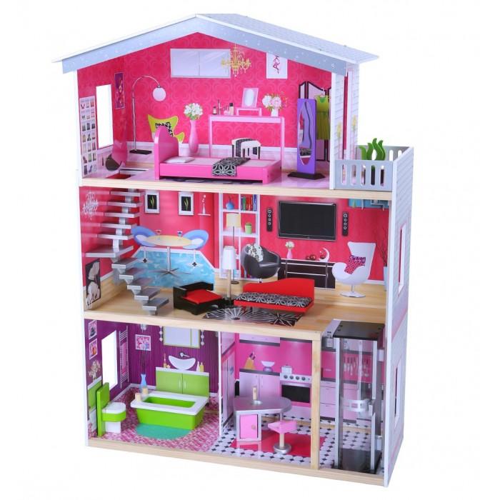 Edufun Кукольный дом с мебелью EF4118Кукольный дом с мебелью EF4118Edufan Кукольный дом с мебелью EF4118 предназначен для девочек от трех лет.   Он создан из комбинированного материала, полностью безопасного для ребенка. Благодаря наличию множества комнат, дополнительных аксессуаров, игрушка станет функциональным дополнением для развивающих и ролевых игр.  Особенности: Домик имеет три этажа.  Все детали тщательно обточены, они не имеют острых углов и зазубрин. Это гарантирует ребенку полную безопасность.<br>