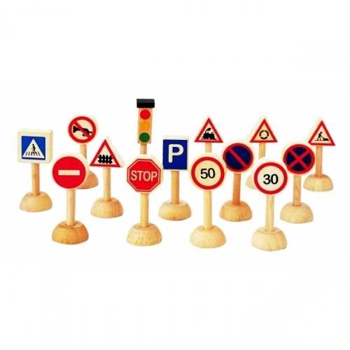 деревянные игрушки бэмби набор дорожные знаки 7777 Деревянные игрушки Plan Toys Набор Дорожные знаки