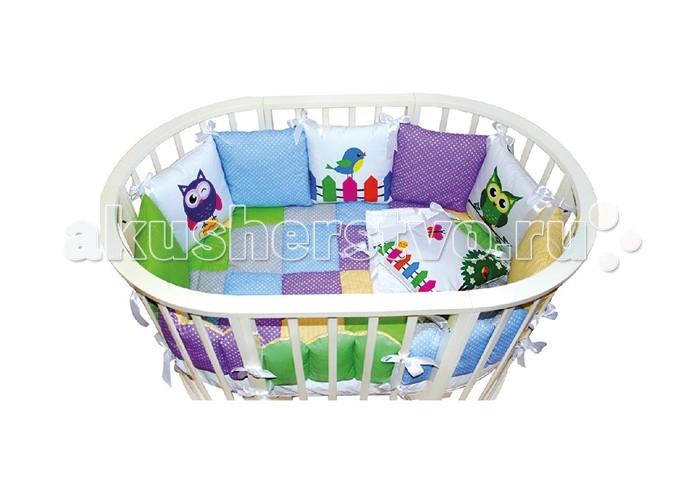 Комплект в кроватку VIP Persona Совта (15 предметов)Совта (15 предметов)Комплект в кроватку Совта (15 предметов) дл овальной и круглой кровати.  Комплект 15 предметов: бортики 7 подушек  наволочка на молнии  простынь на резинке<br>