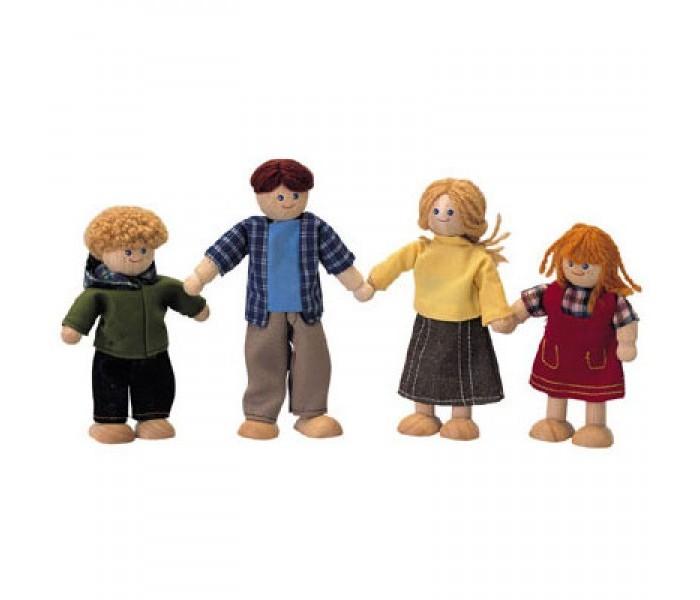 Деревянная игрушка Plan Toys Кукольная семья 7415Кукольная семья 7415Кукольная семья от Plan Toys состоит из папы, мамы и двоих детей (мальчика и девочки).   У всех кукол, одетых в повседневную одежду для прогулок в городе, голова и туловище сделаны из прочной древесины.   Руки и ноги выполнены из проволоки и могут принимать разную форму. Куклы могут сидеть и стоять.  Одежда сделана из натурального хлопка с использованием нетоксичных красок.  Размеры кукол: 6.0 x 3.0 x 13.0 см. Размеры упаковки: 18.8 x 7.5 x 23.0 см. Для детей от 3 лет.<br>