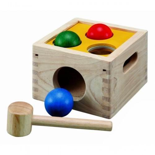 Купить Деревянные игрушки, Деревянная игрушка Plan Toys Забивалка Молоток с шарами