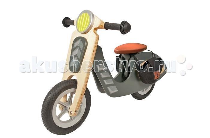 Беговел Dushi мотор деревомотор деревоБеговел Dushi мотор дерево - стильный деревянный беговел в стиле ретро скутера. Предназначен для детей от 3-х лет.  Беговел имеет кожаное седло, регулируемое по высоте (32 / 38 см), и хороший, крепкий руль. Колеса пневматические размером 23 см. По бокам седла располагаются удобные войлочные сумки для перевозки игрушек и любых важных вещей Вашего ребенка.  Беговел упакован в коробку. Требуется частичная самостоятельная сборка по инструкции. Ключ для сборки в комплекте.<br>