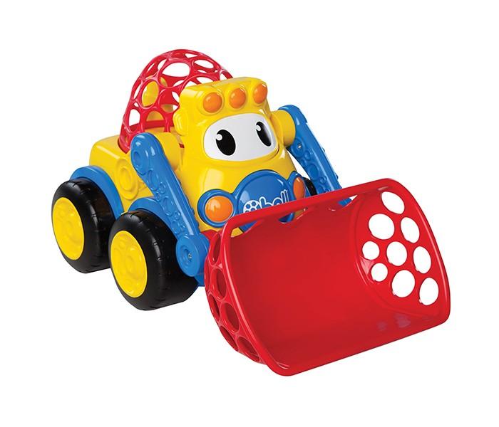 Oball Погрузчик с подвижным ковшомПогрузчик с подвижным ковшомOball Погрузчик с подвижным ковшом отличается веселым и ярким дизайном, который наверняка надолго займет малыша. У машинки большие глаза, крупные колеса и подвижный ковш. Благодаря мощным колесам погрузчик легко передвигается по поверхностям любого типа и потому подходит для игры как в домашних условиях, так и для забавы в песочнице. Во вместительный ковш легко поместятся игрушки, мелкие предметы, а их транспортировка не составит труда. Кабина выполнена в виде мягкого мячика – малышу будет удобно переносить машинку,держа мячик пальчиками.  Яркая машинка - отличный вариант функциональной игрушки для малышей. Не содержит вредных веществ.  Размер игрушки: 19 x 30 x 19 cм<br>