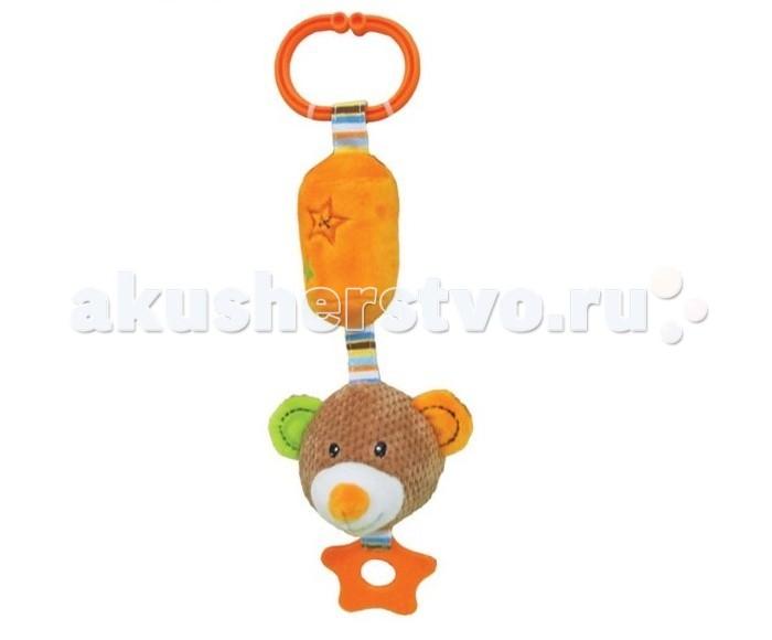 Прорезыватели Жирафики Подвеска с колокольчиком Мишка Вилли игрушка подвеска акробат хрюнтик с колокольчиком