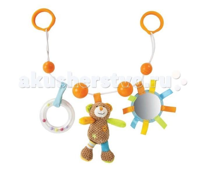 Дуги для колясок и автокресел Жирафики Подвеска с погремушкой зеркальцем и мягкой игрушкой Мишка Вилли игрушки подвески gulliver подвеска с зеркальцем медвежонок оскар