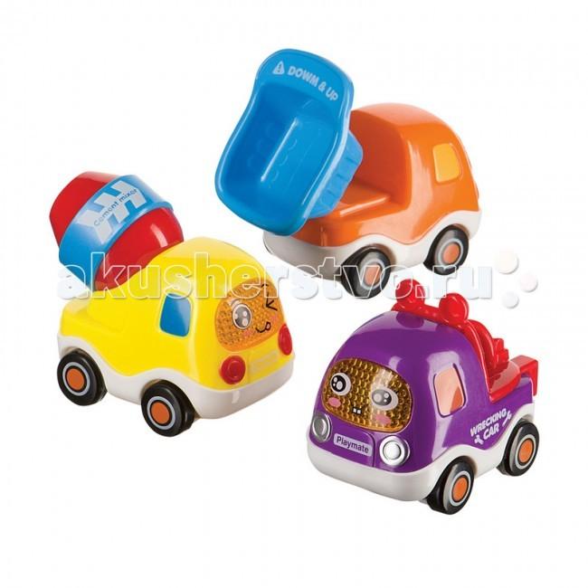 Машины Happy Baby Набор грузовичков с инерционным механизмом Cars4Fun тарелки elan gallery н��бор тарелок райские птички