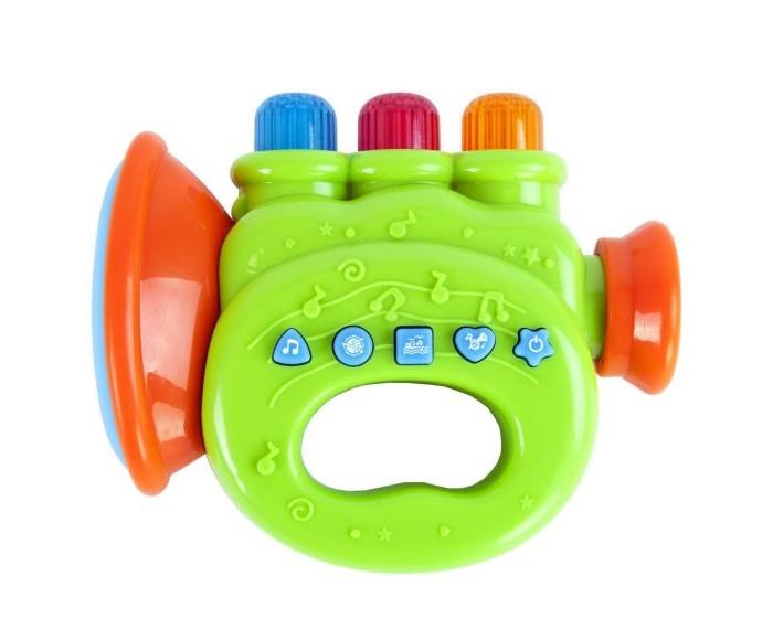 Развивающие игрушки Жирафики Музыкальная труба 4 режима звуков 16 мелодий жирафики развивающая игрушка подвеска бабочка муз