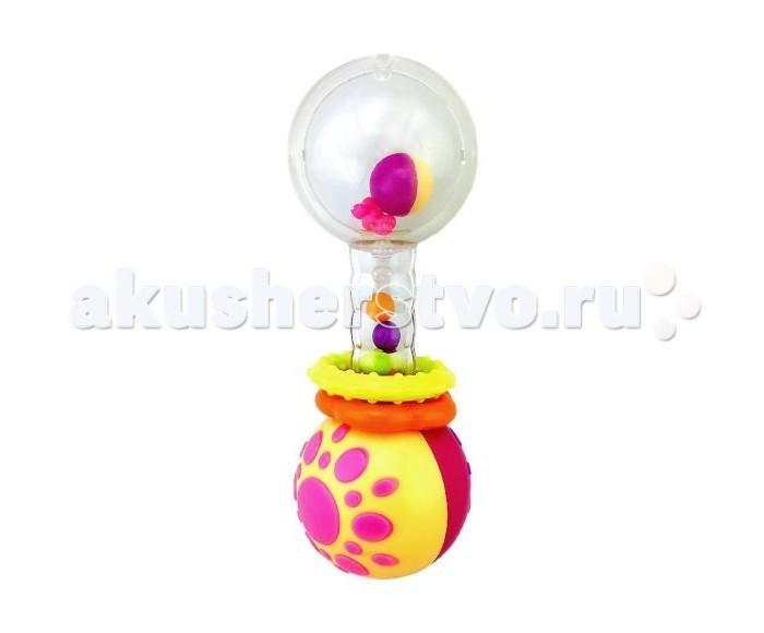 Погремушки Жирафики Функциональная Звонкая гантелька с шариками погремушки жирафики набор автобус и кораблик