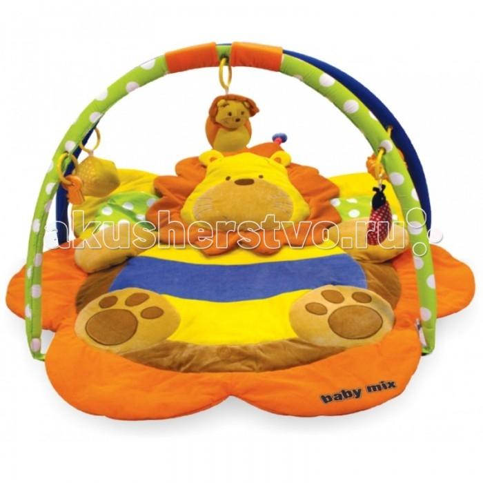 Развивающий коврик Baby Mix Лев 3134СЛев 3134СBaby Mix Развивающий коврик Лев 3134С- это целая игровая площадка, в которой есть все необходимое для занимательной игры и развития малыша.   Он будет интересен как совсем маленьким крошкам, так и подросшим карапузам. Яркие тона игрового поля, красочные подвесные игрушки - вот те особенности, которые привлекают внимание ребенка.<br>