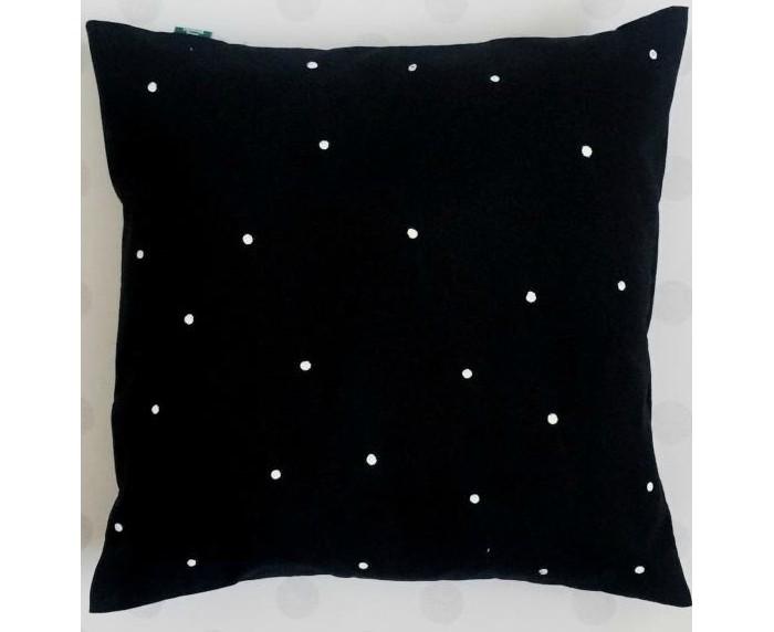 Подушки для малыша BabyDomiki Подушка для Вигвама Black Dot подушка с наволочкой suspicious dog
