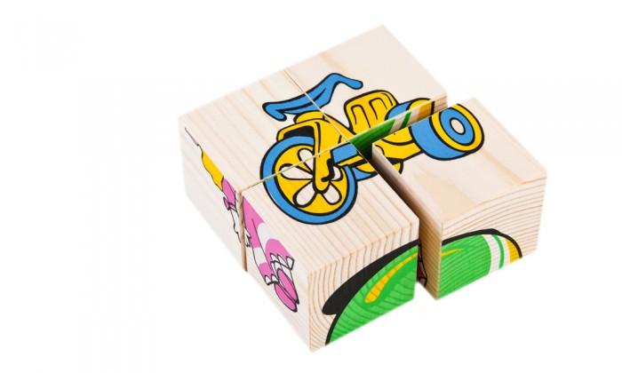 Деревянные игрушки Томик Кубики Игрушки 4 шт. деревянные игрушки теремок кубики веселый счет 12 шт