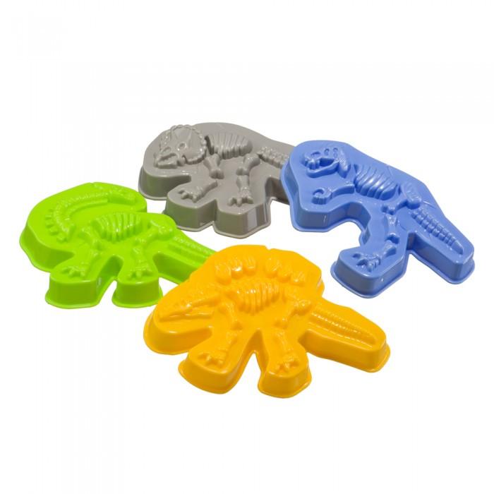 Игрушки для зимы Happy Baby Формочки для песка Dinosaurs формочки для песка стеллар