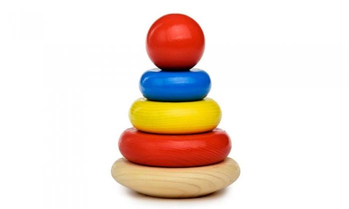 Деревянные игрушки Томик Пирамидка 5 деталей томик пирамидка лягушонок