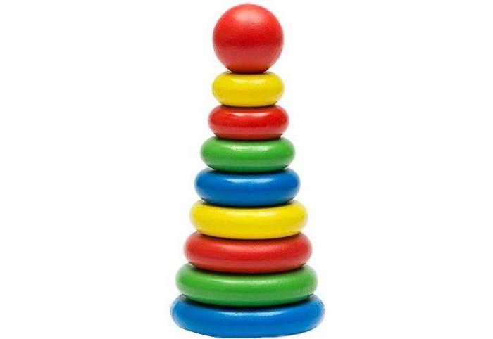 пирамидки Деревянные игрушки Томик Пирамидка 9 деталей