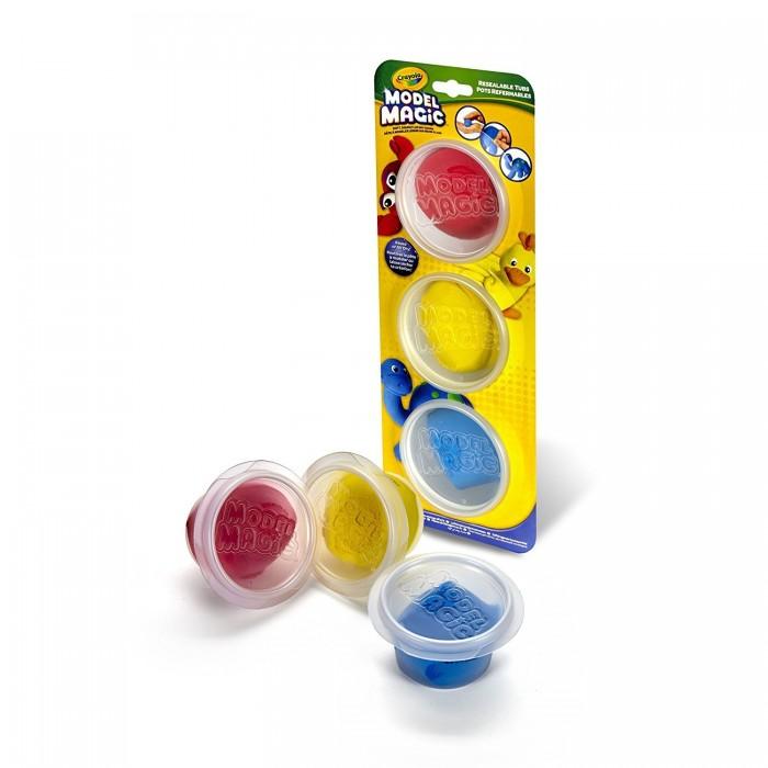 Творчество и хобби , Всё для лепки Crayola Волшебный пластилин 3 цвета в баночках 23-6018 арт: 300640 -  Всё для лепки
