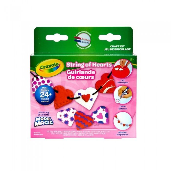 Всё для лепки Crayola Набор волшебный пластилин Бусы из сердечек всё для лепки crayola набор с незасыхающим пластилином