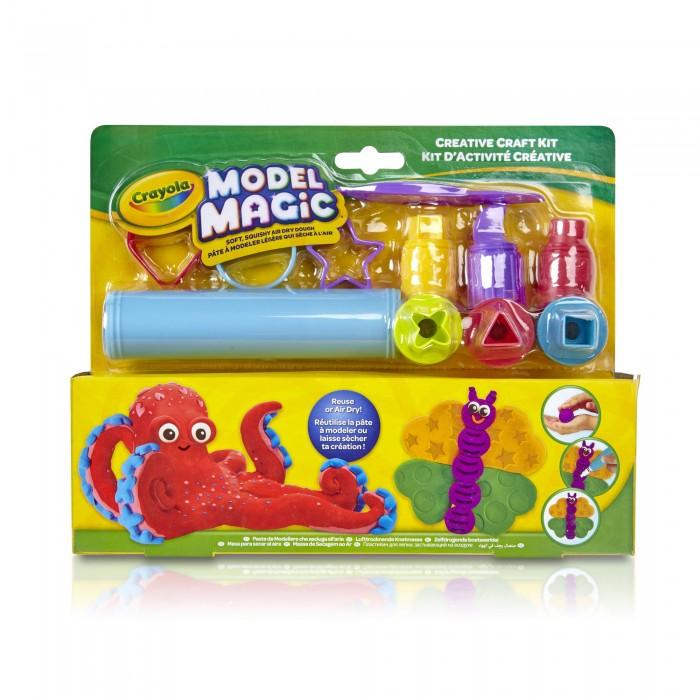 Всё для лепки Crayola Маленький набор пластилина Model Magic с инструментами model magic modeling compound 8 oz each neon 2 lbs by crayola catalog category paper pens