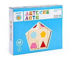 Настольные игры Томик Лото Геометрические фигуры лото лотошки для крошки 1280