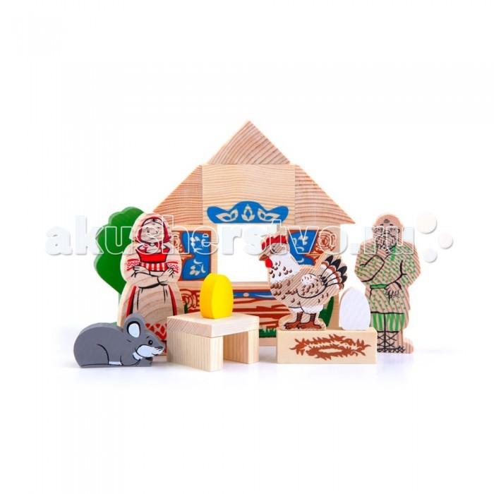 Деревянные игрушки Томик Конструктор Сказки: Курочка Ряба деревянные игрушки томик сказки репка