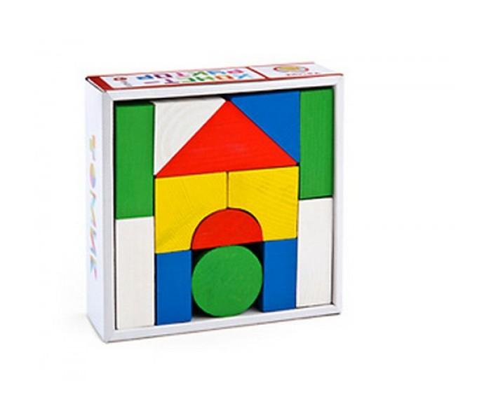 Деревянные игрушки Томик Конструктор Цветной 14 деталей томик деревянный конструктор цветной 26 деталей