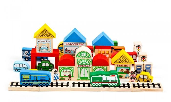 Деревянные игрушки Томик Конструктор Транспорт 45 деталей двери не стандартные деревянные где купить