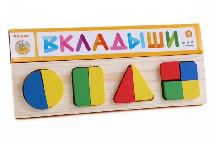 Деревянные игрушки Томик Рамка-вкладыш Геометрия большая томик рамка вкладыш геометрия большая томик