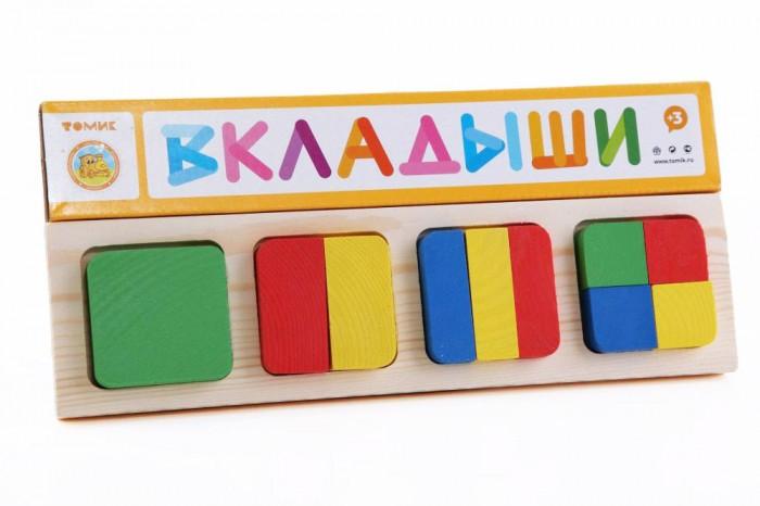 Деревянные игрушки Томик Рамка-вкладыш Геометрия квадрат томик рамка вкладыш геометрия большая томик