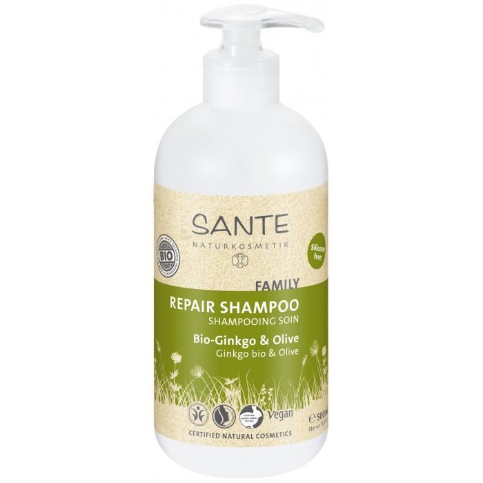 Косметика для мамы Sante Family Восстанавливающий Шампунь с Био-Гинкго и Оливой 200 мл косметика для мамы sante family кондиционер для блеска волос 150 мл