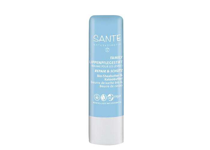 Косметика для мамы Sante Family бальзам для губ Восстановление и уход чувствительной кожи с  Био-Ши и Какао 4.5 г sante family шампунь для блеска с био апельсином и кокосом 200 мл