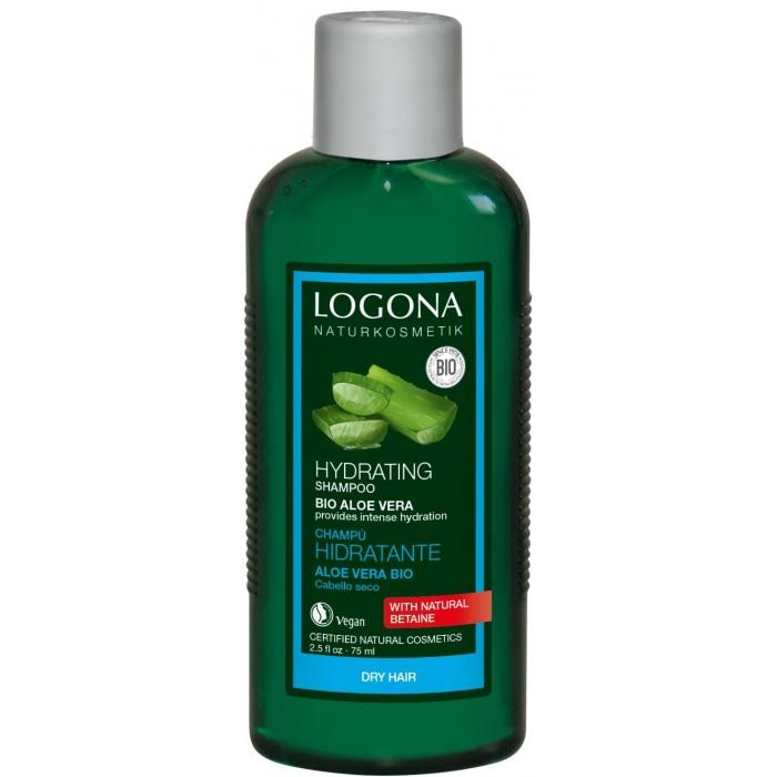 Косметика для мамы Logona Шампунь для увлажнения волос с Био-Алоэ Вера 75 мл logona восстанавливающее масло для волос 75 мл