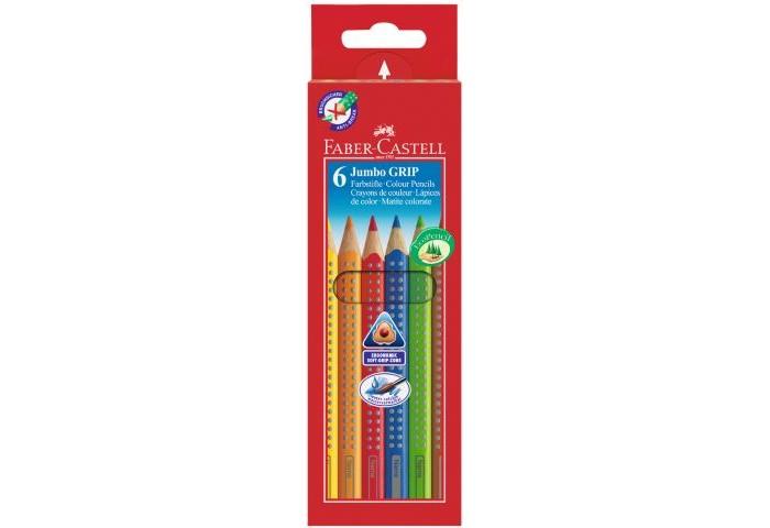 Карандаши, восковые мелки, пастель Faber-Castell Цветные карандаши Jumbo Grip 6 шт. карандаши цветные faber castell junior grip 10 шт 116538 10