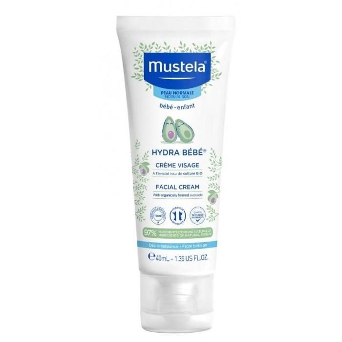 Mustela Крем для лица увлажняющий Hydra-Bebe детский для нормальной кожи 40 мл