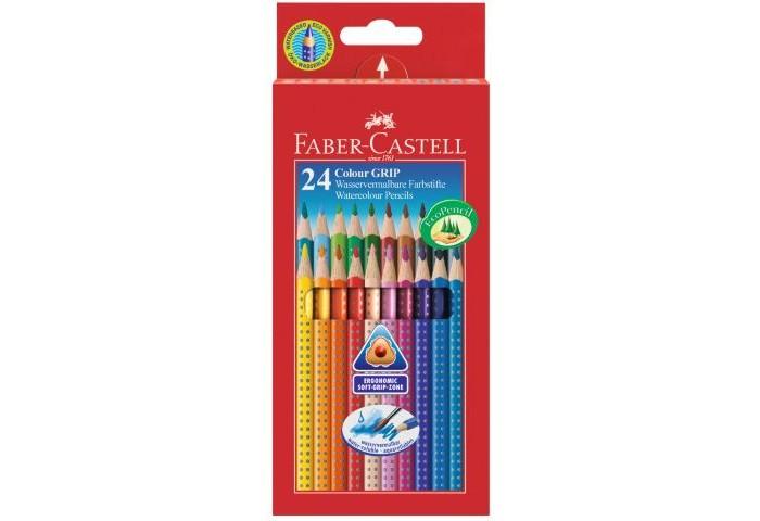Развитие и школа , Карандаши, восковые мелки, пастель Faber-Castell Цветные карандаши Grip 2001 в картонной коробке 24 шт. арт: 301075 -  Карандаши, восковые мелки, пастель